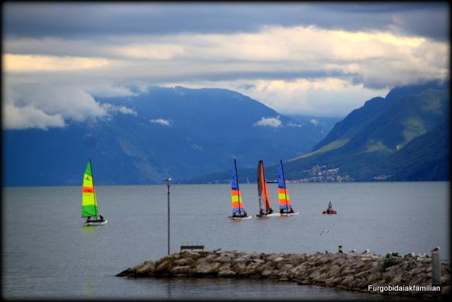 Lago Leman , Gran Ruta suiza en autocaravana