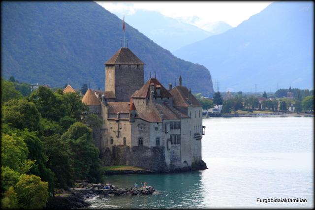 Castillo de Chillon, Gran Ruta suiza en autocaravana