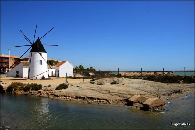 Antiguo molino salinero (Quintin)situado al comienzo de las pozas de Lo Pagan.