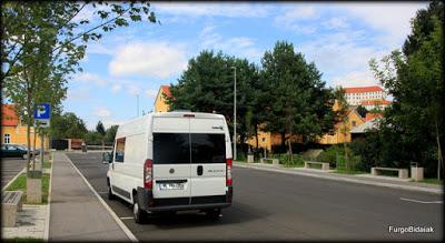 Parking habilitado para autobuses y autocaravanas en Ptuj.
