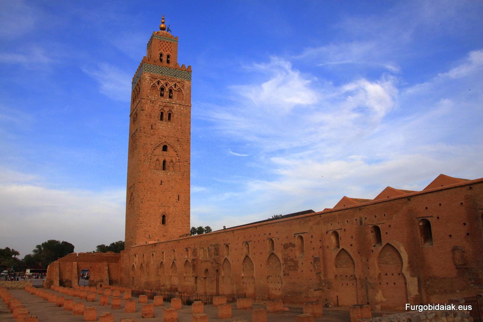 Koutoubia, Marruecos en furgoneta camper