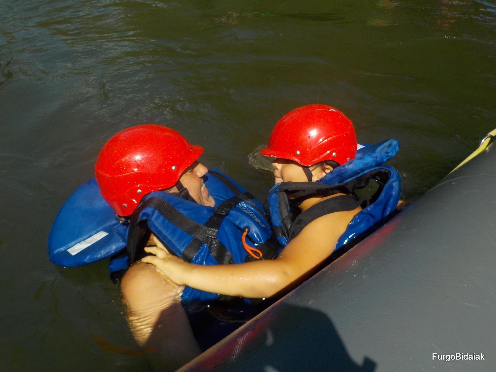 rafting en Llavorsí, en familia