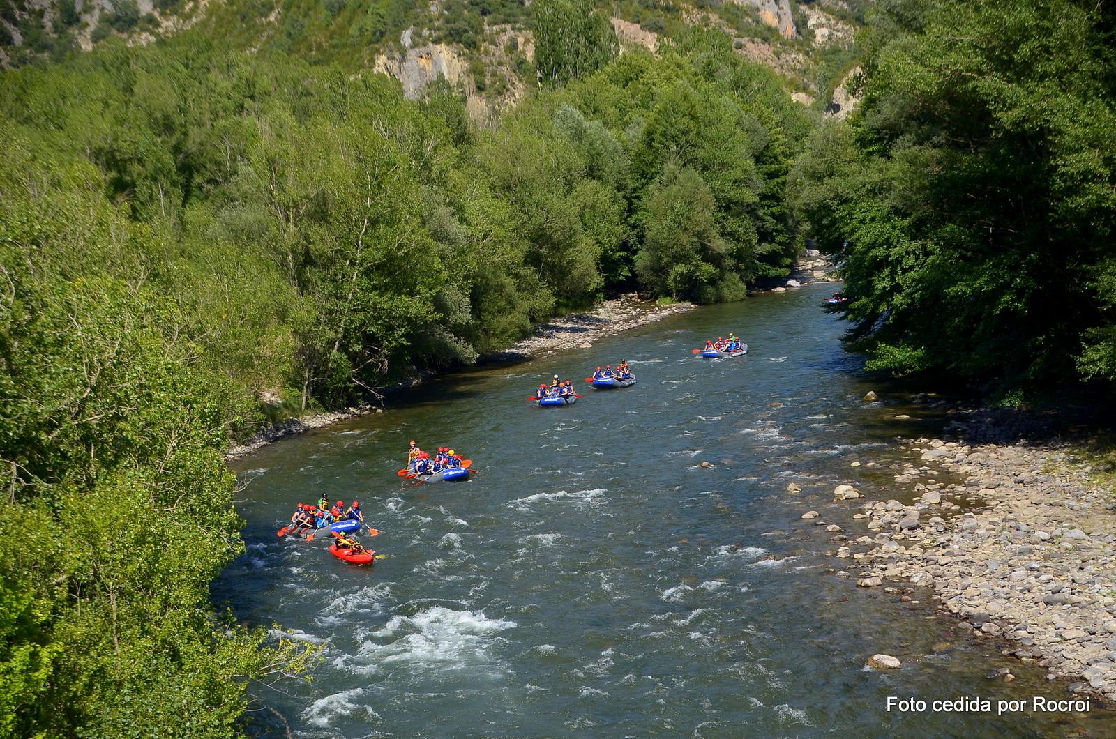 rafting en Llavorsí, río Noguera Pallares