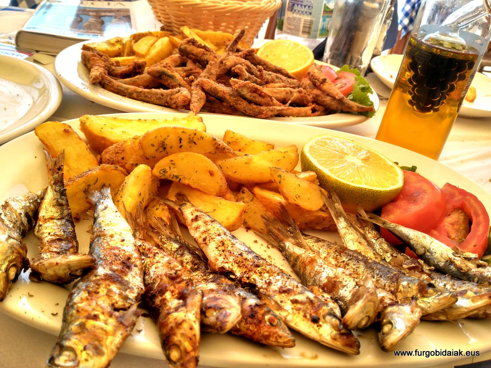 Parga, pescado fresco,Grecia