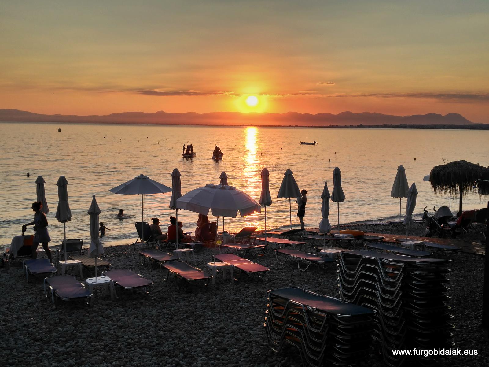 Puesta de sol, Mani, Peloponeso, Grecia