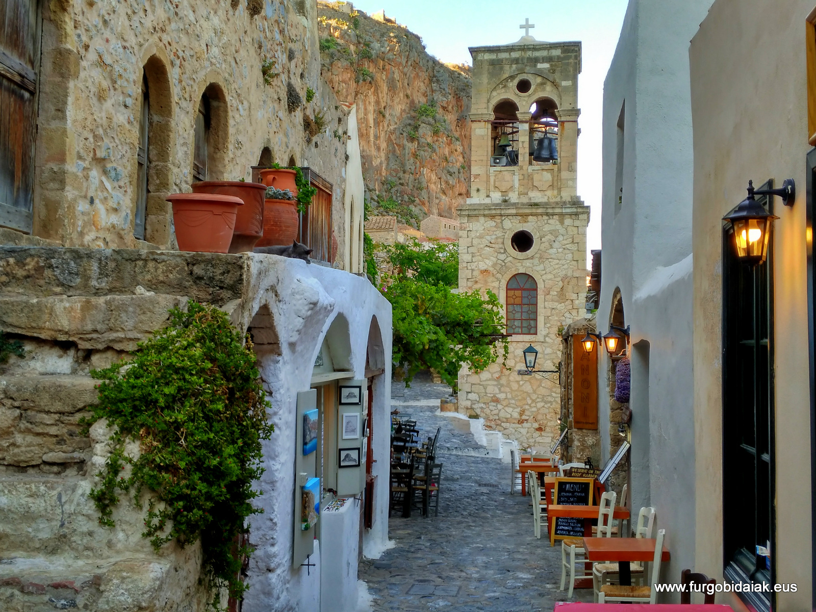 Monenbasía, ciudad baja, Peloponeso, Grecia