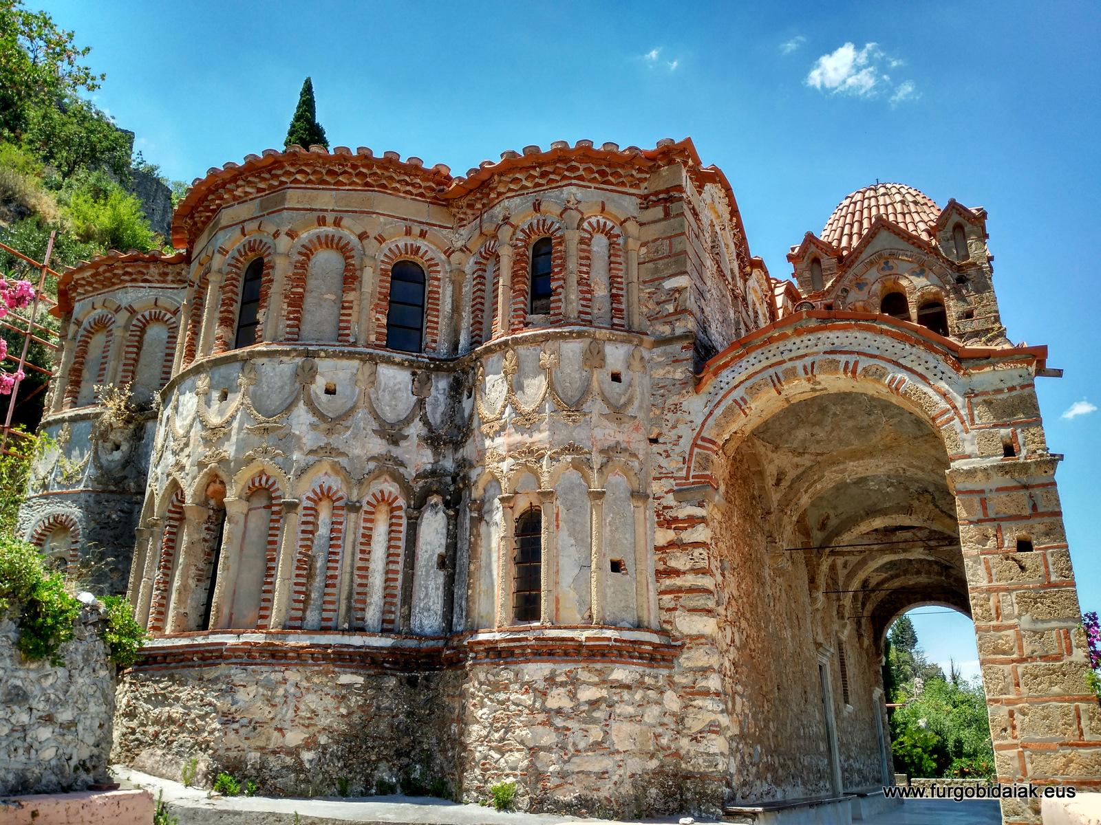 Monasterio Pantánasa, Mistra, Peloponeso, Grecia