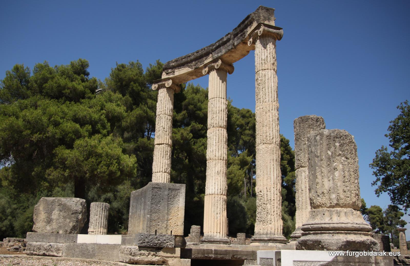 Templo de Hera, Olympia, el Peloponeso, Grecia
