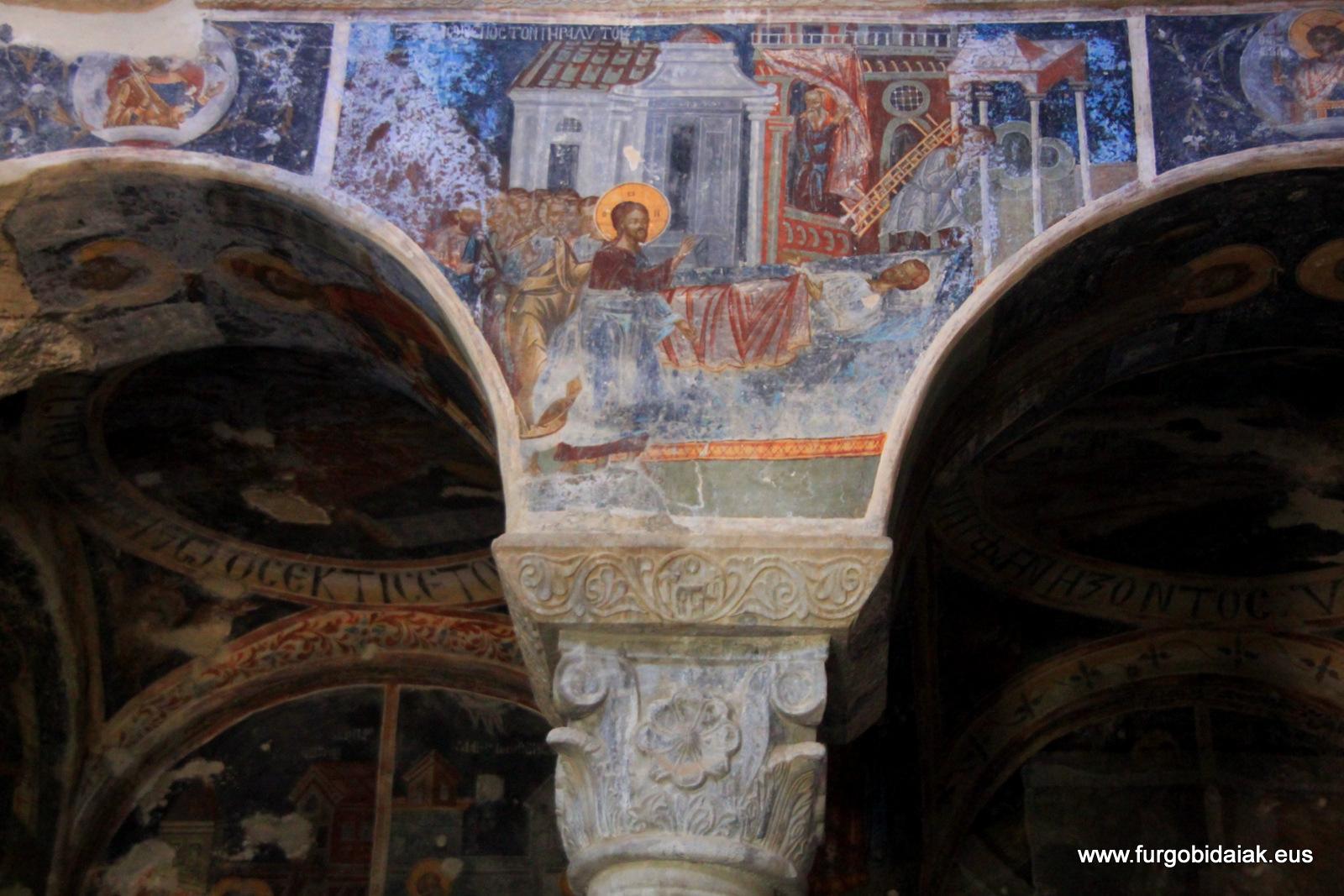 Frescos, Monasterio Panatanasá, Mystra, Peloponeso