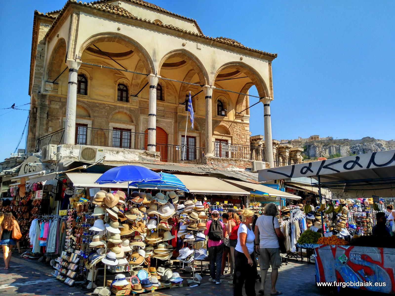 Monastiraki, plaza del mercado, Atenas