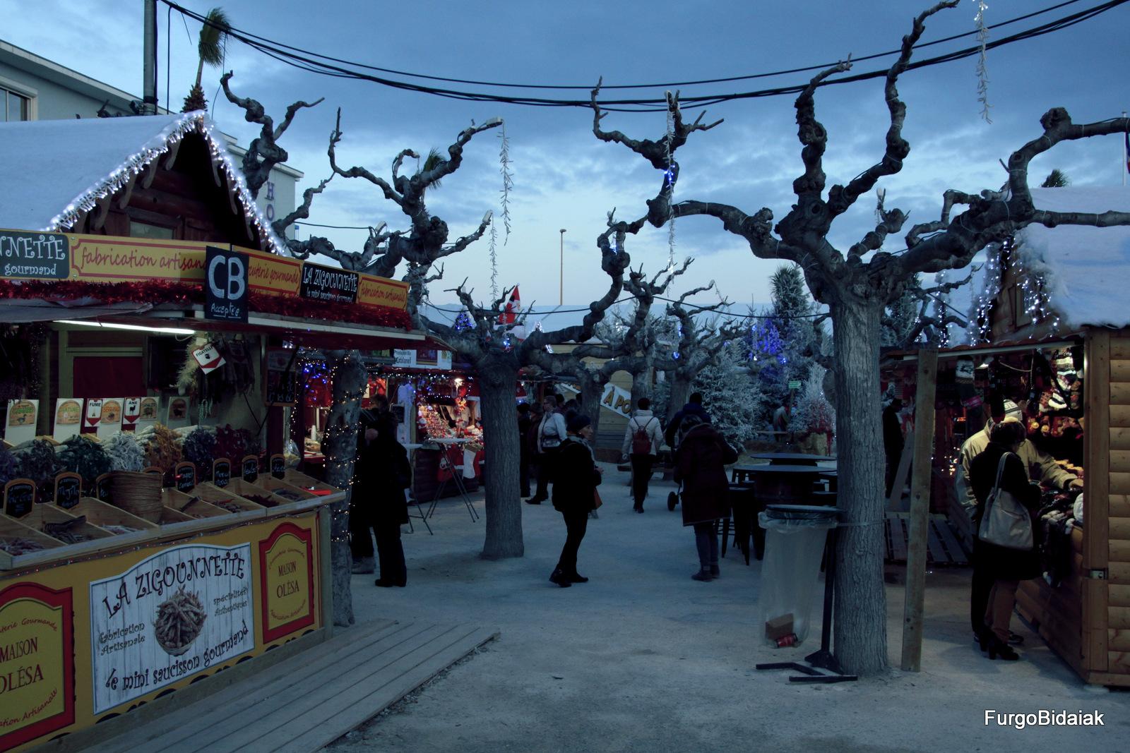 Casetas de mercado de Navidad, Le Barcarés.