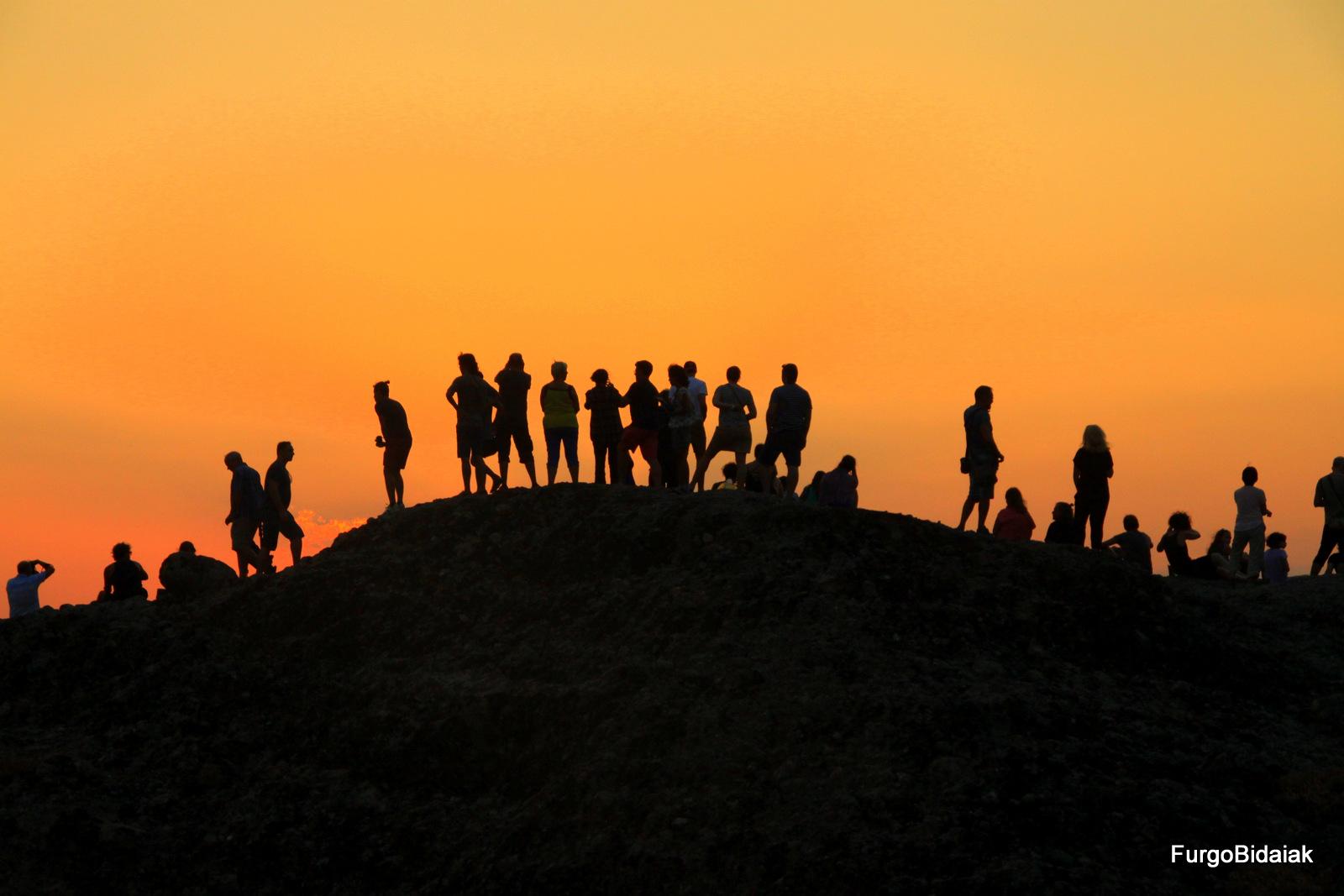 Puesta de sol, Meteora, Grecia