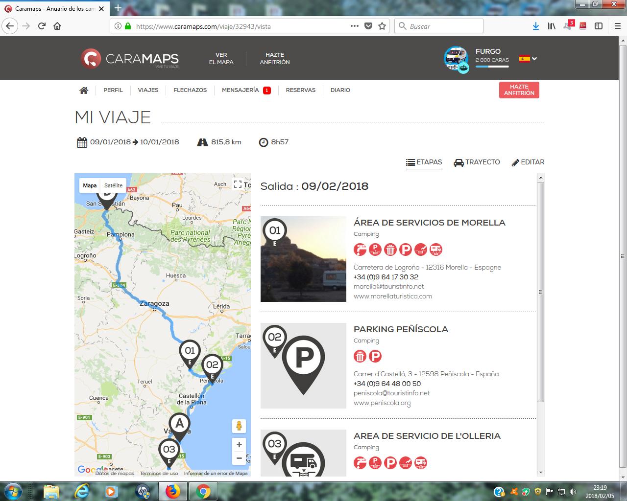 aplicación Caramaps