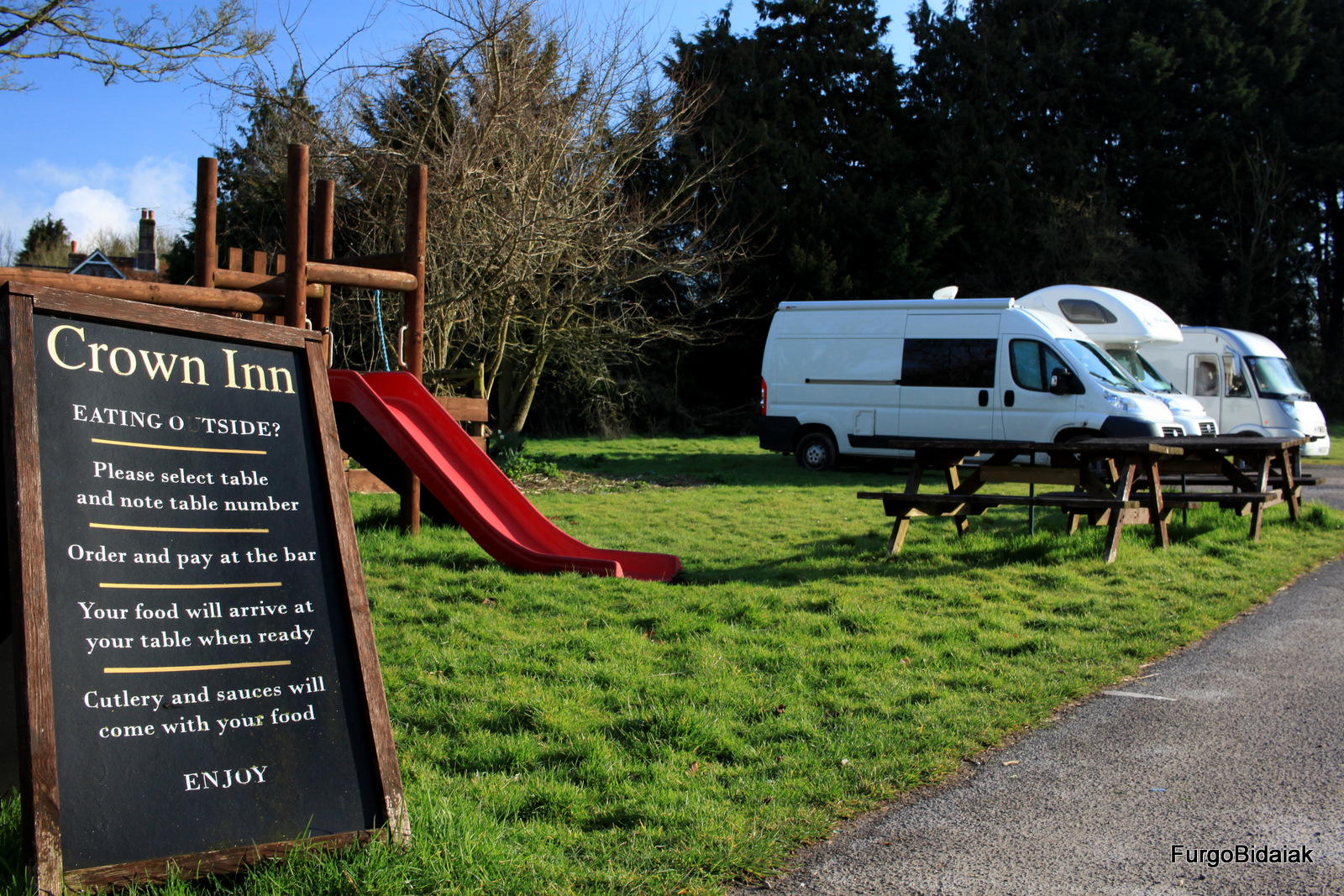 Britstops Crown Inn pub motorhome
