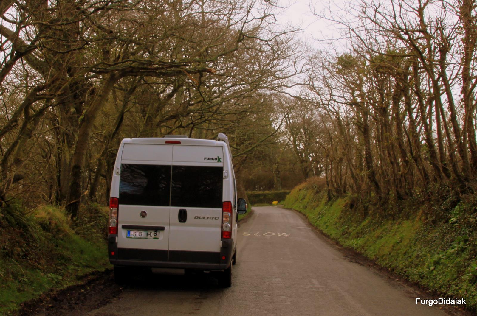 El sur de Inglaterra, ruta en furgo
