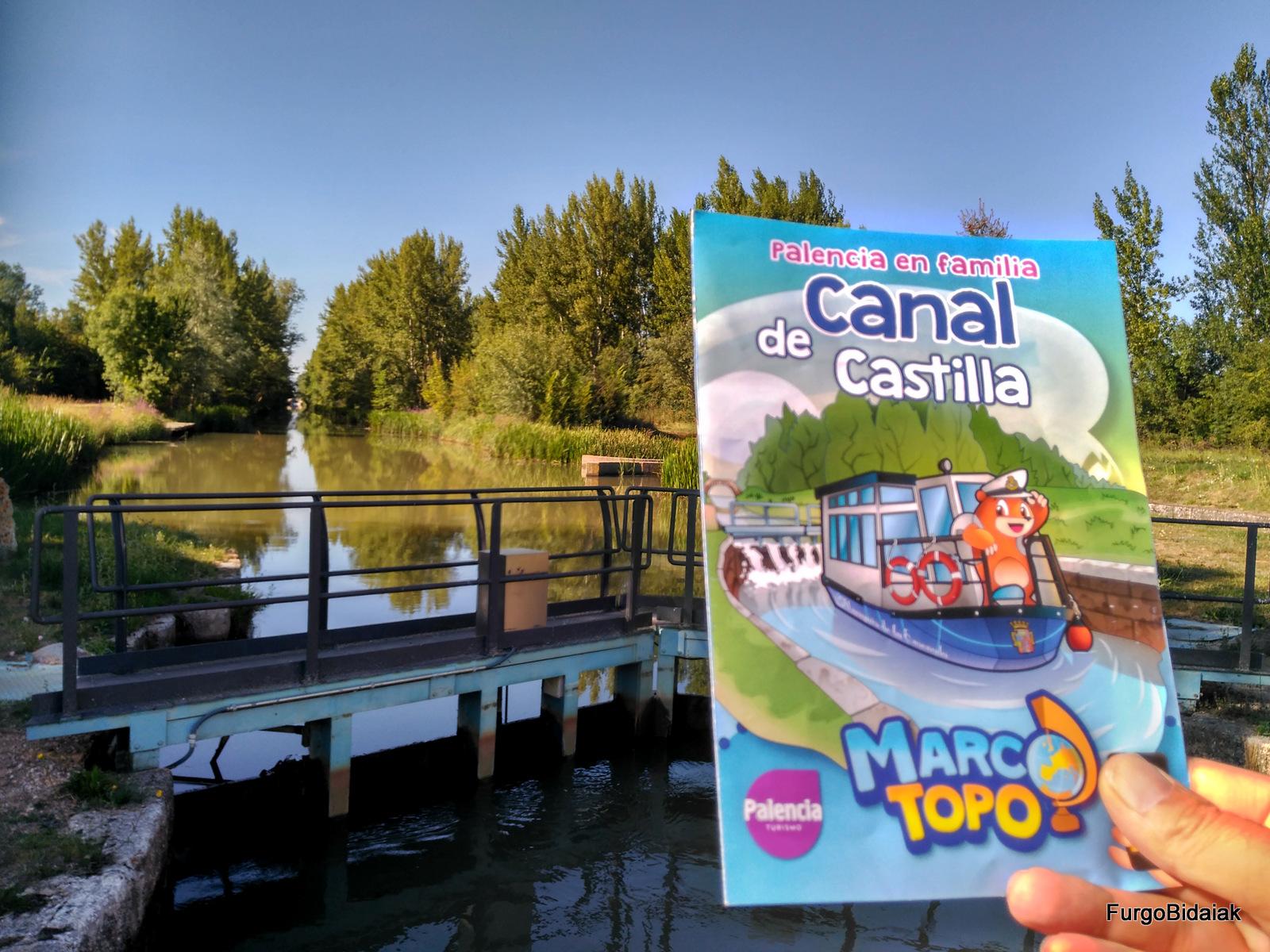 Juego interactivo Marco Topo, Herrera de Pisuerga, Canal de Castilla
