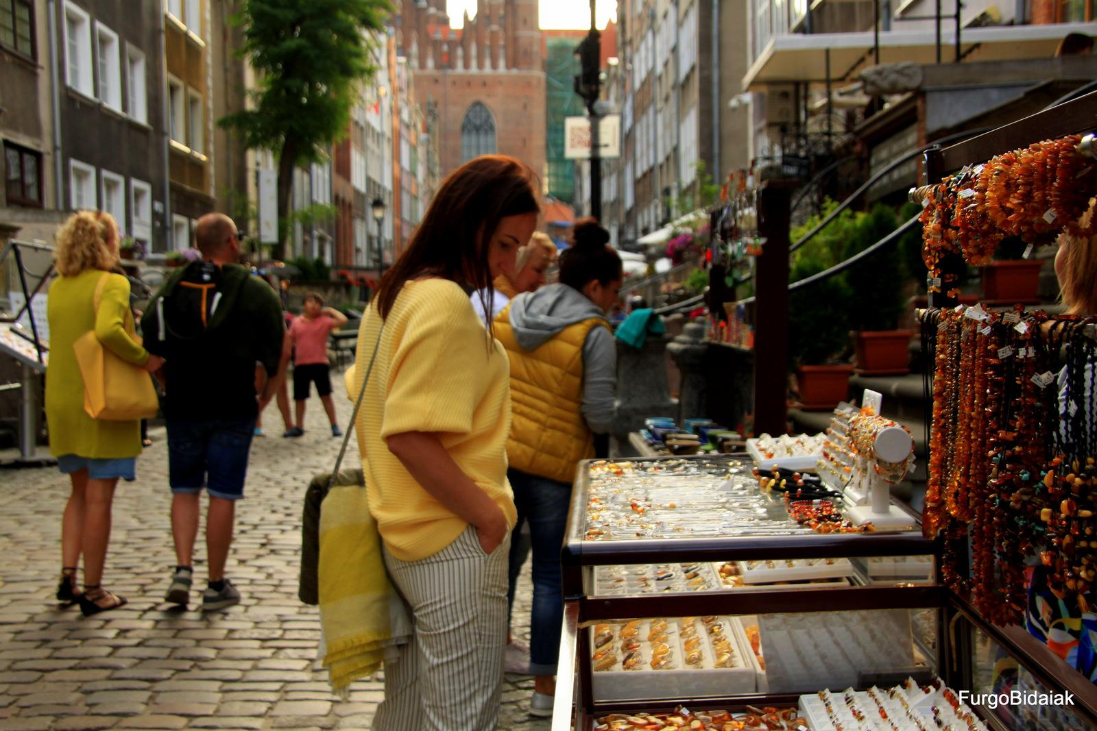ulica Mariacka, ambar, Gdansk, Polonia