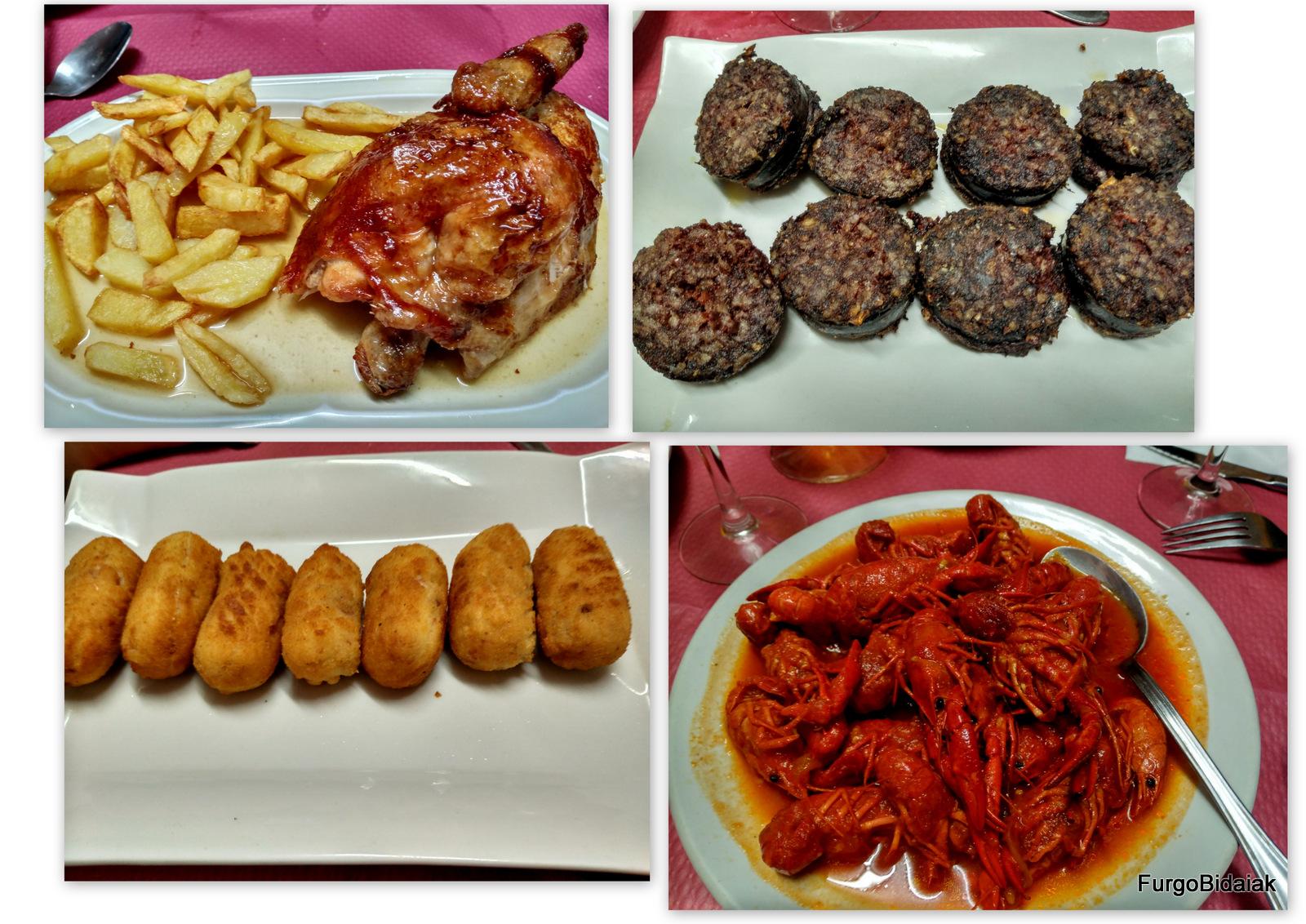 Cangrejos del bar-restaurante Pisuerga, Palencia