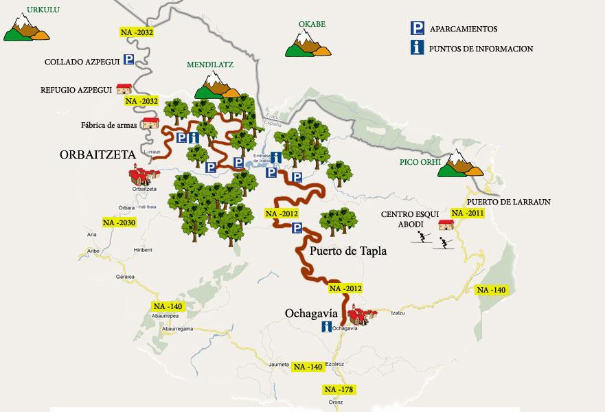 Selva de Irati mapa