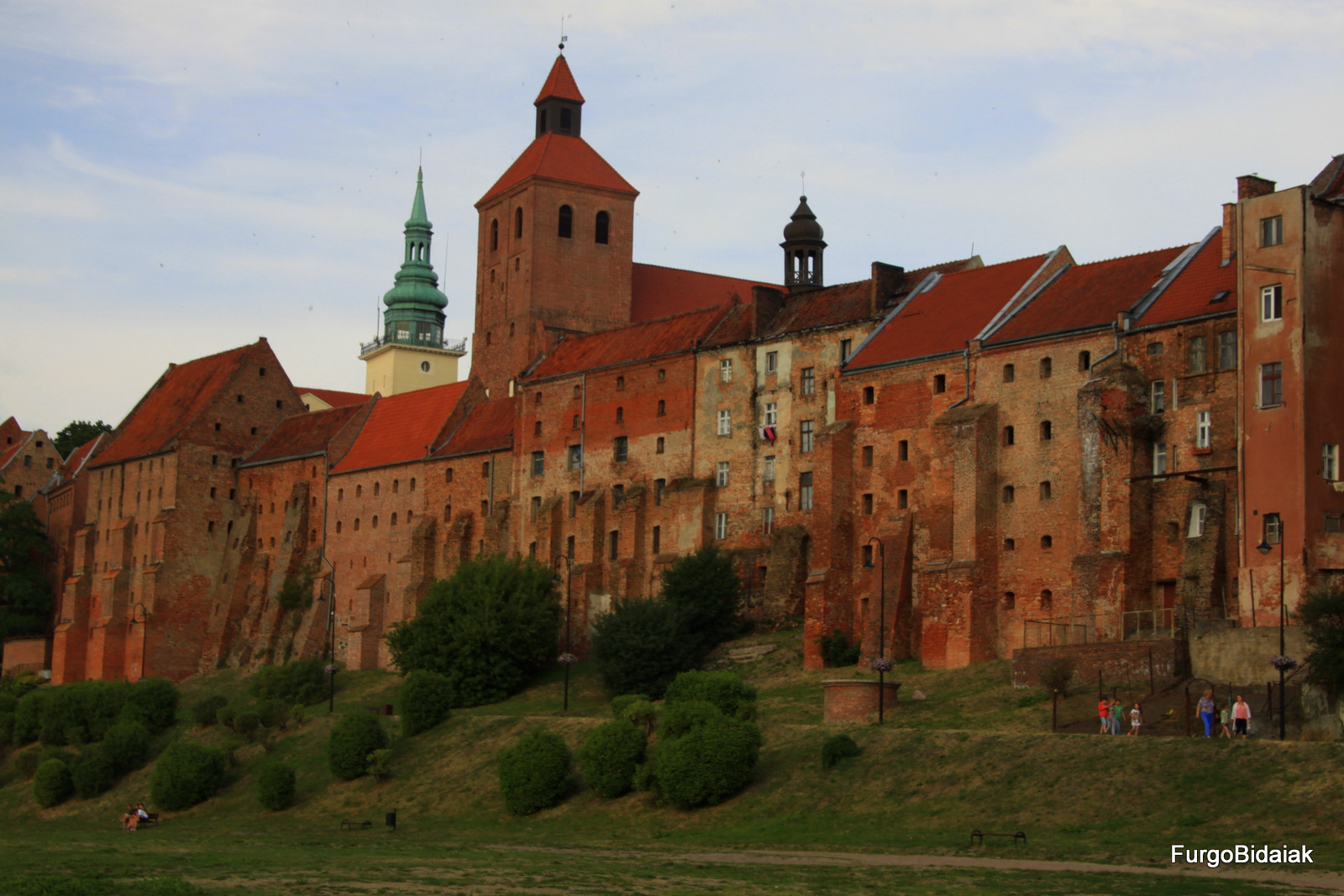 murallas de Grudziadz , ruta de los caballeros teutónicos, Polonia