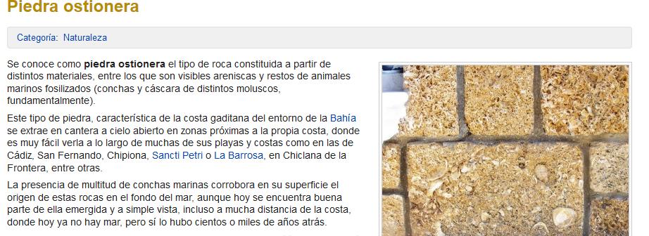 Cádiz Piedra ostionera