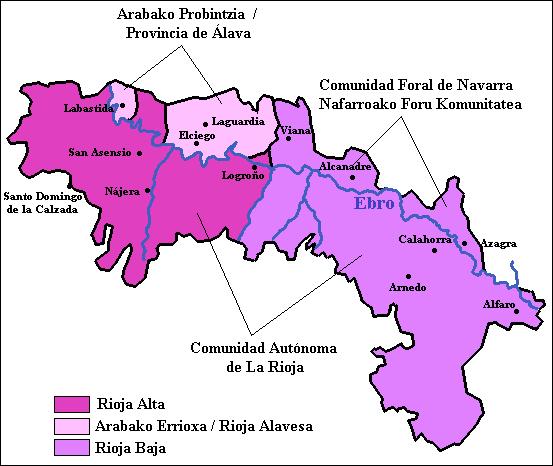 MAPA DE LA RIOJA