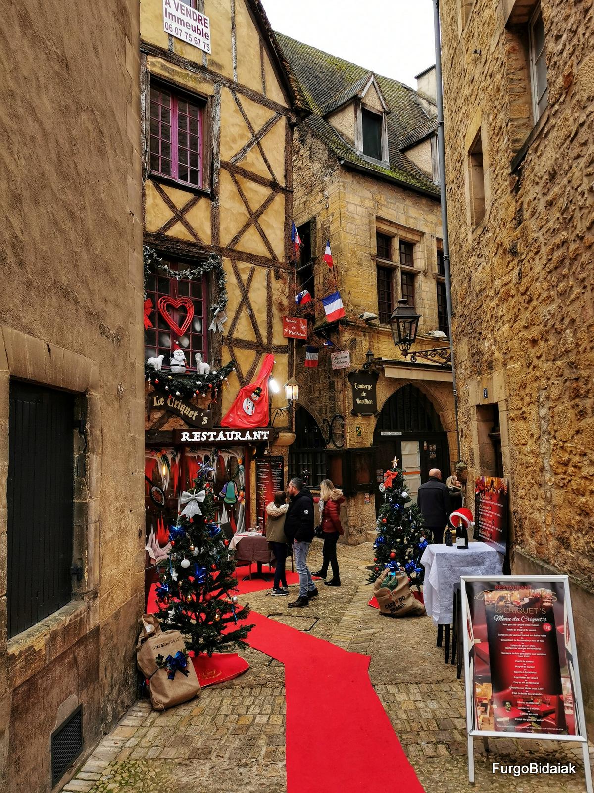 Sarlat la Canèda , mercados de Navidad del sur de Francia