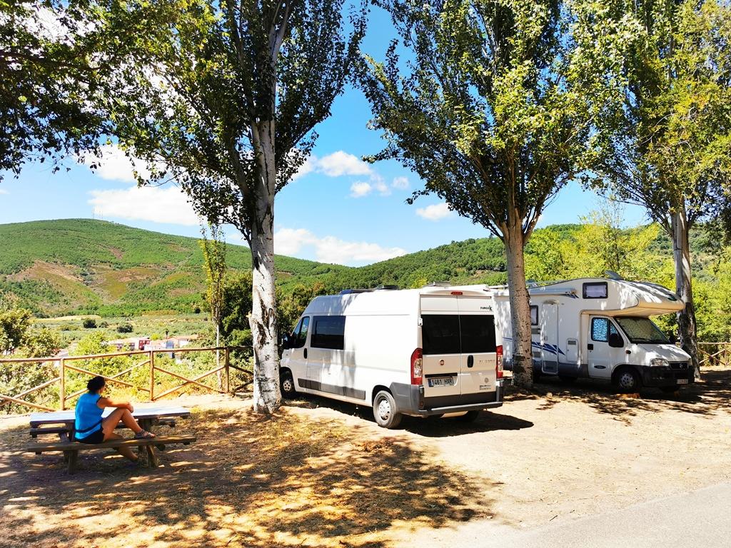 Area de autocaravanas  Torre de Don Miguel, Pueblos más bonitos de Sierra de Gata.