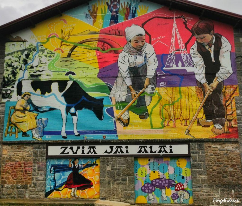 Gorbea, murales pintados de Zuia,