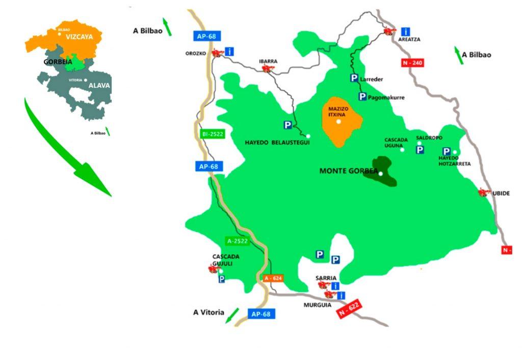 Gorbeia mapa