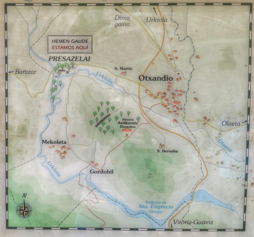 Mapa de Presazelai y su entorno